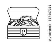 game treasure chest icon vector ...