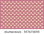 seamless polka dot with heart. | Shutterstock . vector #557673055