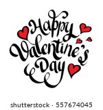 happy valentine's day lettering ... | Shutterstock .eps vector #557674045