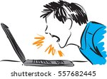 man yelling to computer...   Shutterstock .eps vector #557682445