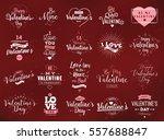 happy valentines day typography ... | Shutterstock .eps vector #557688847