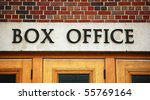 Theater Box Office  Close Up O...