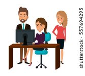 bussiness people working icon | Shutterstock .eps vector #557694295