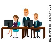 bussiness people working icon | Shutterstock .eps vector #557694301