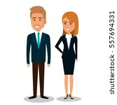 business people avatars icon | Shutterstock .eps vector #557694331