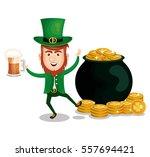 saint patrick day leprechaun... | Shutterstock .eps vector #557694421