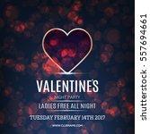 vector valentines day night... | Shutterstock .eps vector #557694661