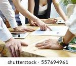 group of business people... | Shutterstock . vector #557694961