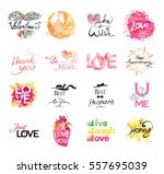 set of love icon. hand drawn... | Shutterstock .eps vector #557695039