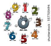 numbers icons of vector cartoon ... | Shutterstock .eps vector #557705494