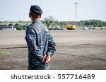 Small photo of Soldier airman military army parade in uniform