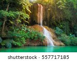 phu sang waterfall with water... | Shutterstock . vector #557717185