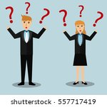business man and woman... | Shutterstock .eps vector #557717419