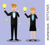 business man and woman... | Shutterstock .eps vector #557717425