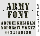 military alphabet font. army... | Shutterstock .eps vector #557719609