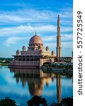 the putra mosque is the... | Shutterstock . vector #557725549
