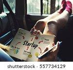 new beginning solution goals... | Shutterstock . vector #557734129