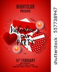 red paty flyer for valentine's... | Shutterstock .eps vector #557738947