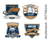 hunting club vector icons set.... | Shutterstock .eps vector #557740141