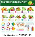 vegetables infographics. vector ... | Shutterstock .eps vector #557740195