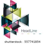 triangle abstract vector... | Shutterstock .eps vector #557741854