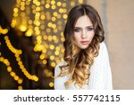 portrait of a young beautiful... | Shutterstock . vector #557742115