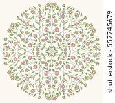 vintage round flowal pattern... | Shutterstock .eps vector #557745679