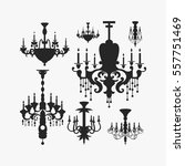 luxury chandelier vector... | Shutterstock .eps vector #557751469