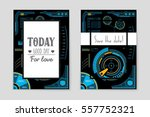 abstract vector layout... | Shutterstock .eps vector #557752321