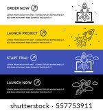 website banners with rocket... | Shutterstock .eps vector #557753911