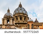 the roof at st. peter's... | Shutterstock . vector #557772265