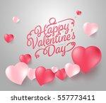 happy valentine's day... | Shutterstock .eps vector #557773411