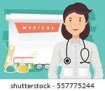 doctor and medical concept... | Shutterstock .eps vector #557775244