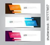 colorful vector design banner... | Shutterstock .eps vector #557777857