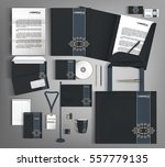 vintage corporate identity... | Shutterstock .eps vector #557779135
