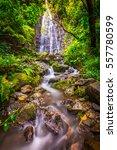 waihe'e falls in oahu | Shutterstock . vector #557780599