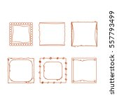 simple doodle  sketch square... | Shutterstock .eps vector #557793499