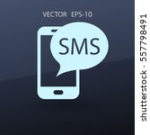 sms icon. vector illustration | Shutterstock .eps vector #557798491