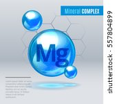 mineral mg magnesium blue... | Shutterstock .eps vector #557804899