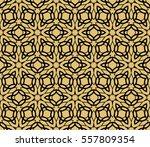 golden floral geometric lace... | Shutterstock .eps vector #557809354