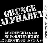 grunge scratch type font ... | Shutterstock .eps vector #557810671