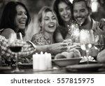 a group of friends having fun... | Shutterstock . vector #557815975