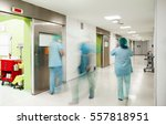 surgery blurred doctors hospital | Shutterstock . vector #557818951