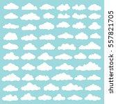 cloud set design clean vector | Shutterstock .eps vector #557821705