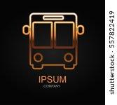 bus icon. vector illustration.... | Shutterstock .eps vector #557822419