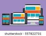responsive concept computer... | Shutterstock .eps vector #557822731