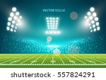 american football field with... | Shutterstock .eps vector #557824291