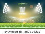 american football field with... | Shutterstock .eps vector #557824339