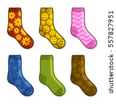 socks set with different color... | Shutterstock . vector #557827951