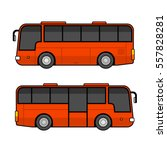 red bus template set on white... | Shutterstock . vector #557828281